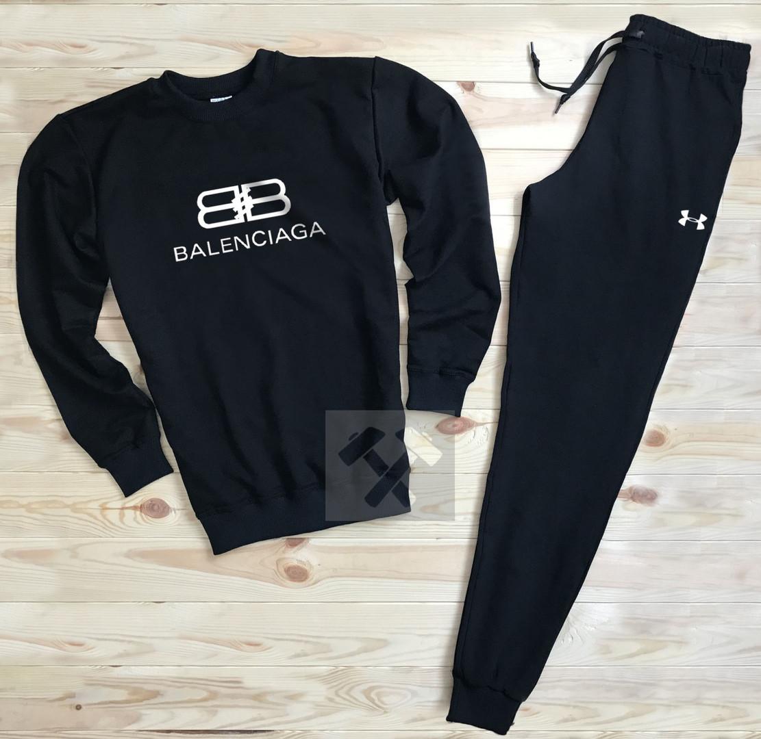 Спортивный костюм без молнии Balenciaga черный топ реплика