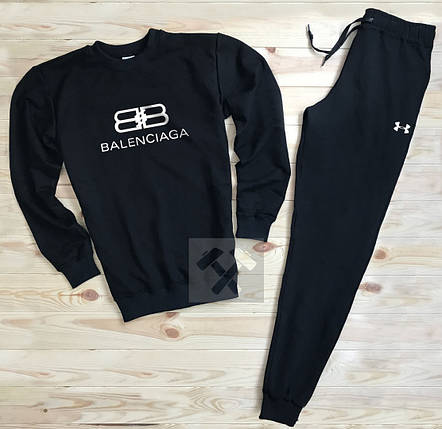 Спортивный костюм без молнии Balenciaga черный топ реплика, фото 2