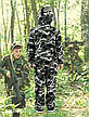 Детский камуфляж костюм для мальчиков Лесоход цвет зеленый камуфляж Вельвет на флисе, фото 3