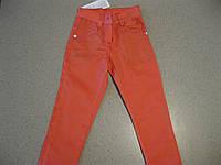 Детские цветные, модные котоновые  джинсы для девочек 3,4,6,7 Турция