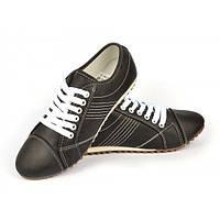 d470261b Кроссовки женские черные повседневные (casual) на шнуровке Fa Fa, Черный, 41