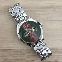 Наручные часы Gucci 6239 Silver-Green-Red кварцевые, часы Гуччи, реплика