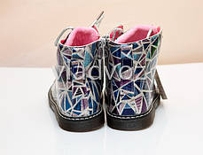 Детские демисезонные ботинки для девочек абстракция 23р., фото 3