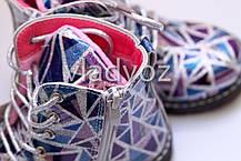 Детские демисезонные ботинки для девочек абстракция 23р., фото 2