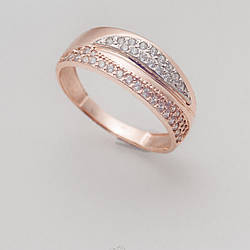 Золотое кольцо с фианитами. КП1624