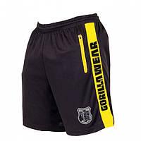 Шорты спортивные GORILLA WEAR (m.yellow) черные размер XL