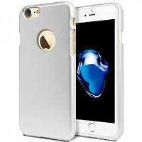 "TPU чехол Mercury iJelly Metal series для Apple iPhone 7 / 8 (4.7"") Серебряный"