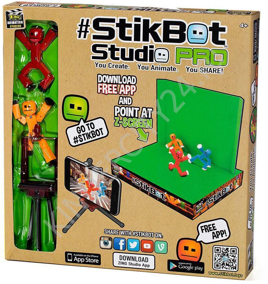 Анимационная студия StikBot стикбот со сценой в комплекте 2102