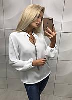 """Блуза женская """"Виталия"""", белая 42-44 / 44-46"""