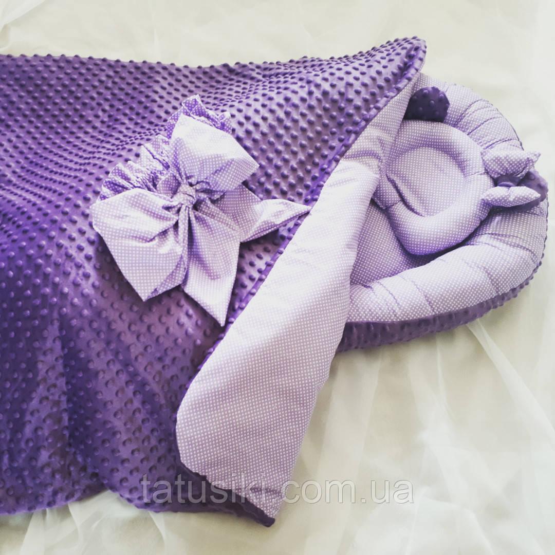 Кокон-гнездышко, ортопедическая подушка, конверт-плед, фото 1