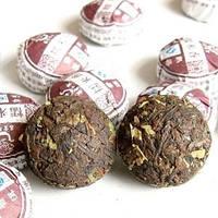 Чай китайский пуэр сяо то, приятный аромат, крепкий вкус, прессованные таблетки 10*5г / рассыпной в пакете 357