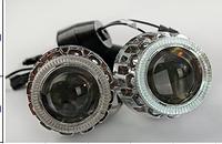 Комплект биксеноновых линз G8 с габаритом ангельский глаз и лампочками
