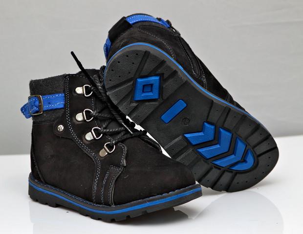 Детские зимние ботинки для мальчика черные 27р.
