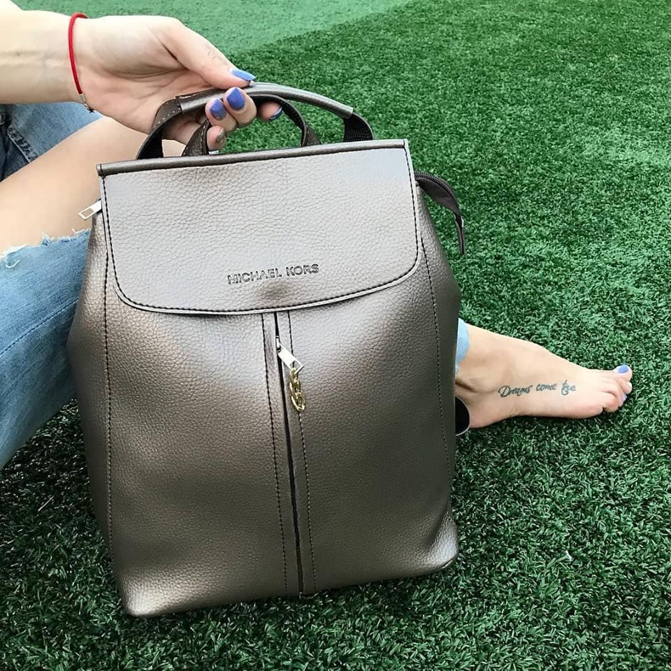 d9522b8cabc6 Женский рюкзак в стиле Michael Kors  мишель корс майкл корс молодежный  бронза бронзовый
