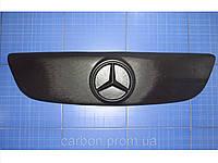 Зимняя заглушка решётки радиатора Mercedes Sprinter верх с 2006 матовая Fly. Утеплитель Мерседес
