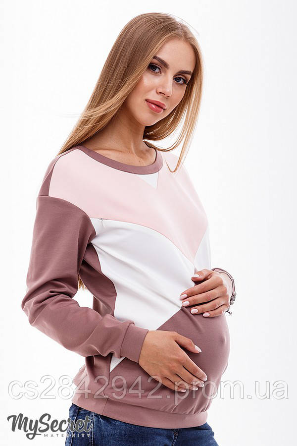 Світшот для вагітних та годуючих мам (Свитшот для беременных и кормящих мам) CAT SW-38.031