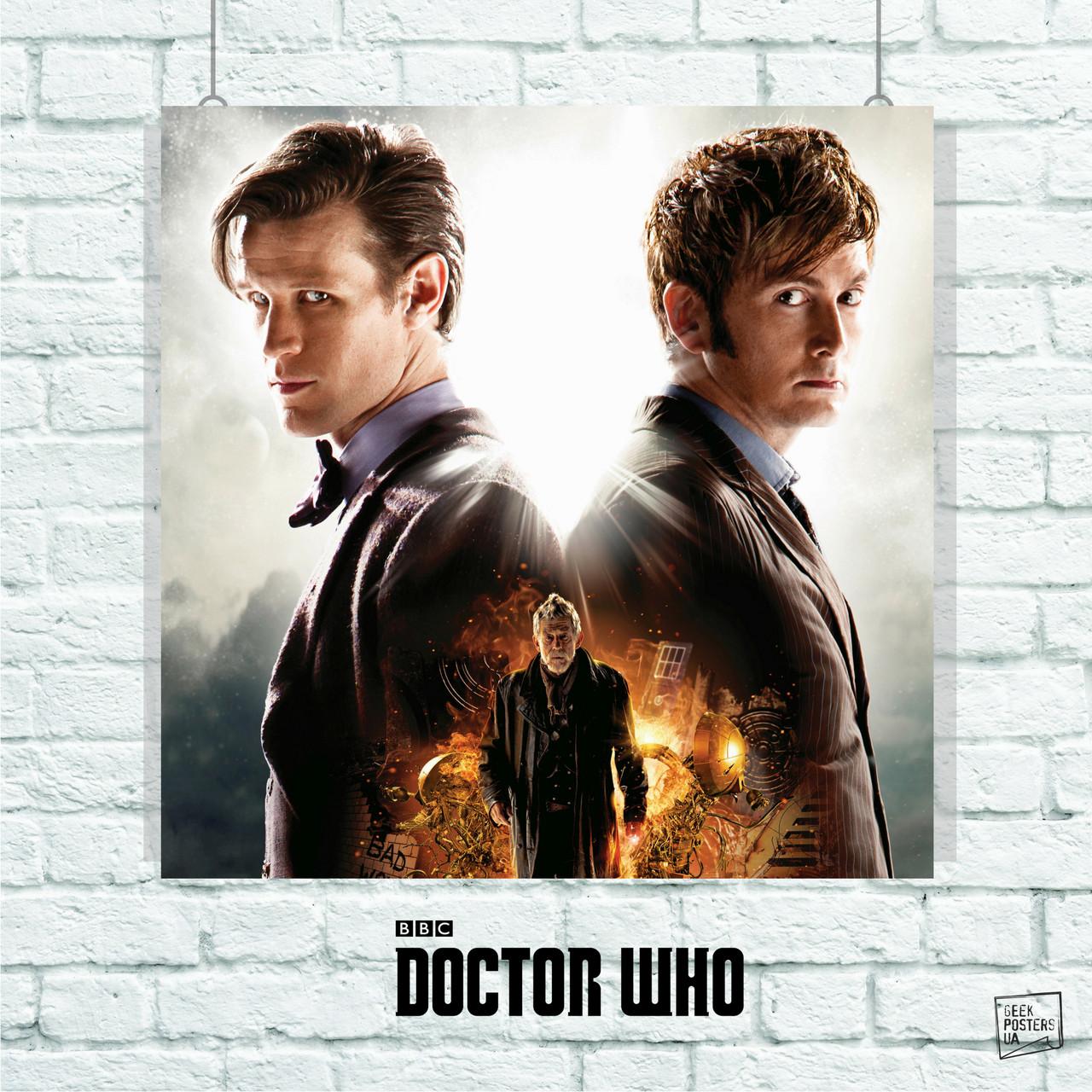 Постер War Doctor, Dr.Who, Доктор Кто. Размер 60x60см (A1). Глянцевая бумага