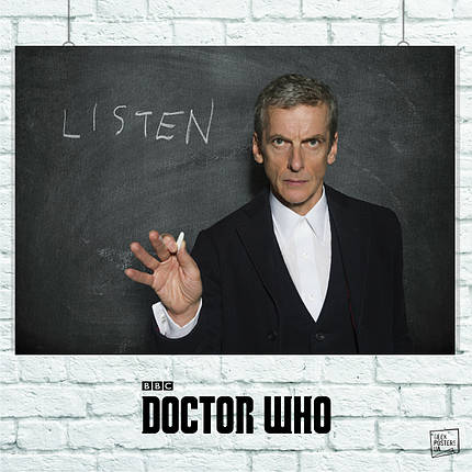 Постер Dr.Who, Доктор Кто, 12-й Доктор у доски. Размер 60x43см (A2). Глянцевая бумага, фото 2