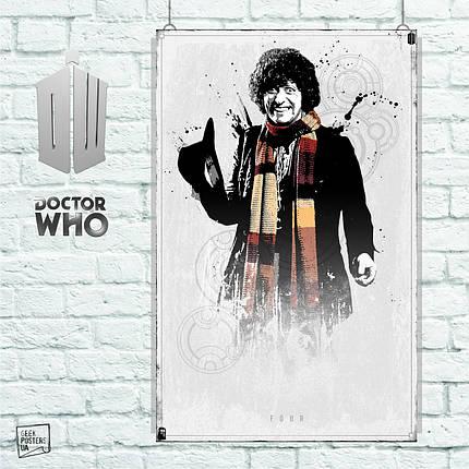 Постер 4-th Doctor, Доктор Кто, Dr.Who. Размер 60x38см (A2). Глянцевая бумага, фото 2