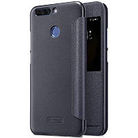 Кожаный чехол (книжка) Nillkin Sparkle Series для Huawei Honor 8 Pro / Honor V9 Черный