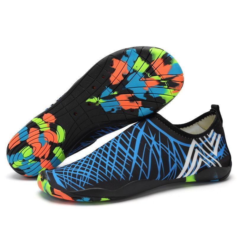 Взуття для пляжу і коралів Diving shoes сині смужки 45 (290mm) as345bl exp