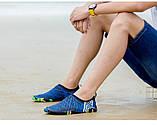 Взуття для пляжу і коралів Diving shoes сині смужки 45 (290mm) as345bl exp, фото 3