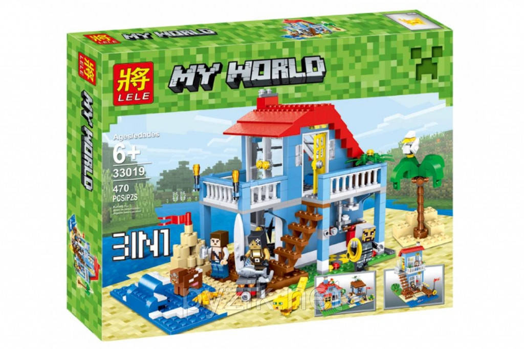 "Конструктор Lele 33019 ""Домик на морском побережье"" - аналог Lego Creator 7346, 470 дет"