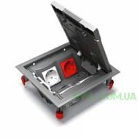 Напольный лючок Ultra 8 модулей, 4 механизма Unica ETK44108