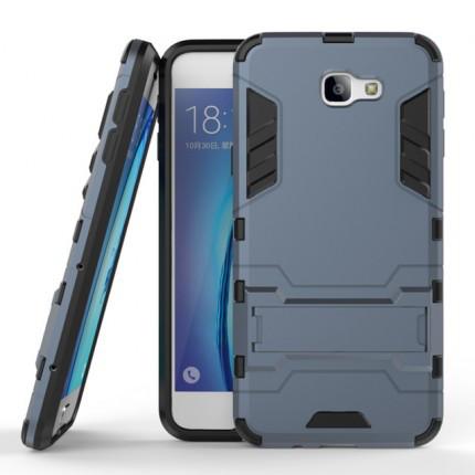 Ударопрочный чехол-подставка Transformer для Samsung G610F Galaxy J7 Prime с мощной защитой корпуса Серый / Metal slate