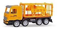 Машинка инерционная Same Toy Super Combination Грузовик желтый для перевозки животных (98-83Ut)