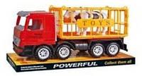 Машинка инерционная Same Toy Super Combination Грузовик красный для перевозки животных (98-82Ut)