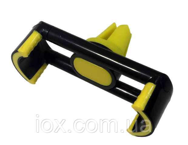 Холдер автомобильный для телефона Холдер JHD96/107 (черный с желтым)