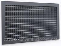 Решетка вентиляционная однорядная растровая 400x400h