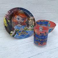 Набор детской посуды для девочки  (принцеса софи), фото 1