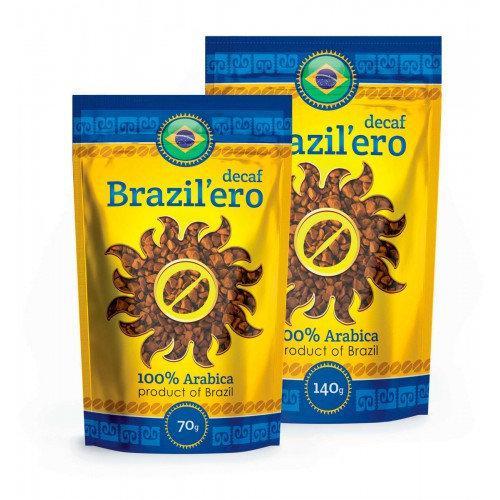 Растворимый кофе Brazil'ero без кофеина 140 гр