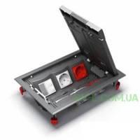 Напольный лючок Ultra 12 модулей, 6 механизмов Unica ETK44112