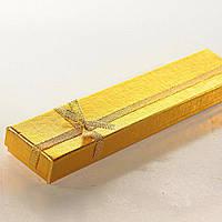 [21/4,5/2 см] Подарочная коробочка для цепочки, браслета Золото длинная 12 шт в упаковке