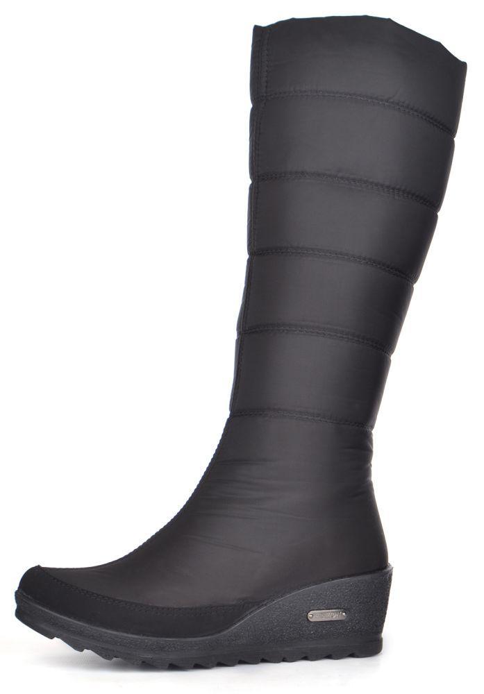 020f4719bdd2 Дутики женские высокие зимние сапоги черные Classic на танкетке, Черный, 39  - MarketShoes -
