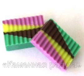 """Мыло """"Фруктово-шоколадная геометрия"""", фото 1"""