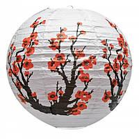Китайский бумажный фонарь Сакура