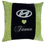 Сувенирная Подушка автомобильная с логотипом Hyundai, фото 7