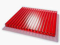 Сотовый красный поликарбонат 4 мм Polynex