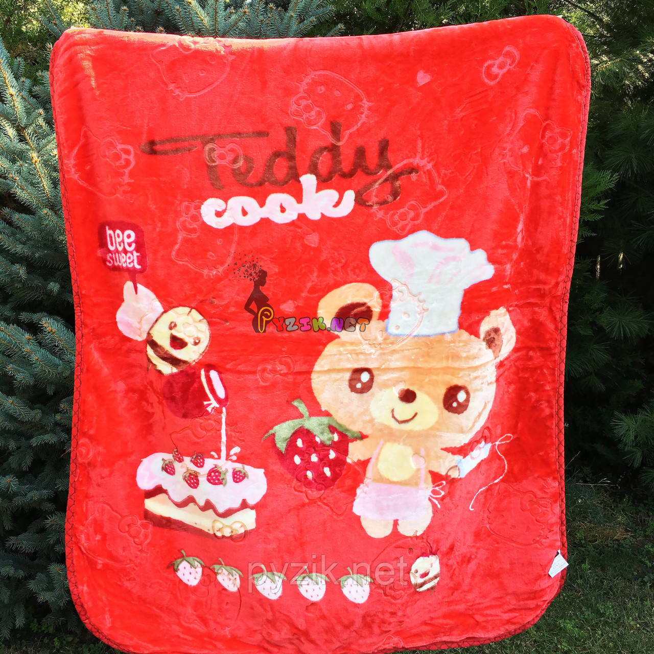 """Плед двухсторонний детский мягкий (микрофибра утепленная) 115х110 см, """"Teddy"""", цвет на выбор"""