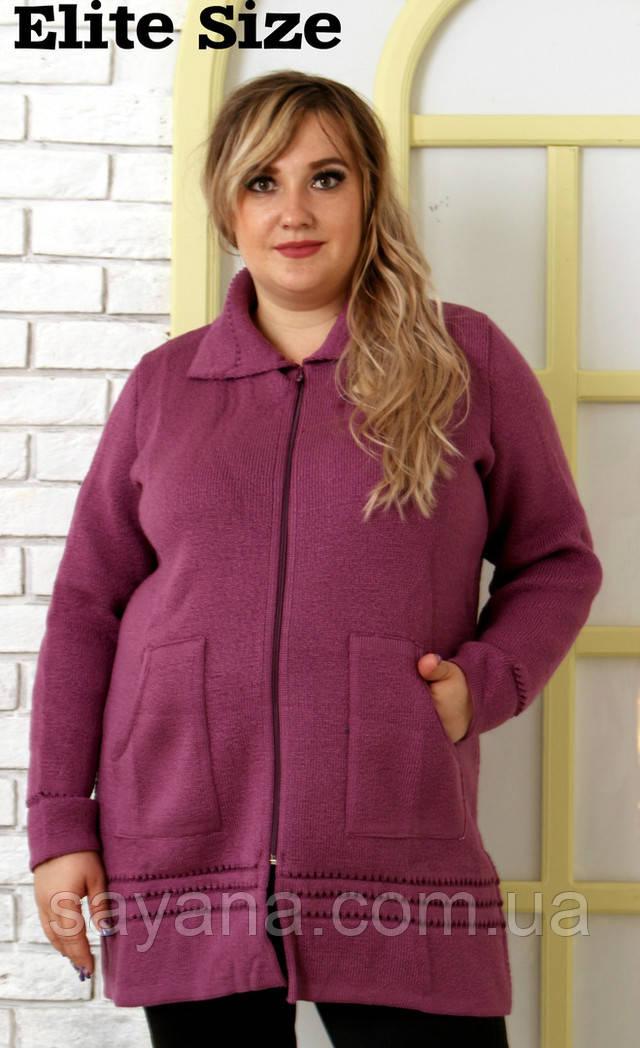 3f4426d5bc6d9 Купить Женскую кофту плотной вязки в моделях, р-р 50-60. НО-48-0918 ...