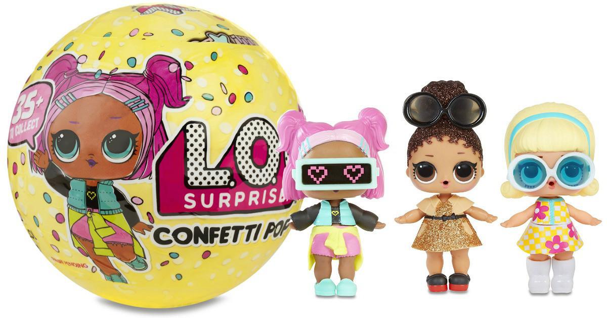 Кукла-сюрприз ЛОЛ в шарике Конфетти (LOL Confetti Pop Series 3)