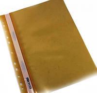 Папка скоросшиватель для файлов А4 ECONOMIX желтый (10шт)
