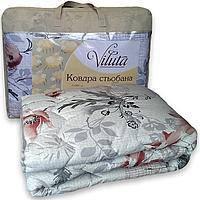 Одеяло стеганое шерстяное зимнее евро 200*220 Viluta Чехол Хлопок 100%, фото 1