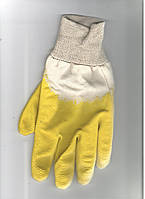 Перчатки х/б  латекс желтый