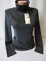 Женские модные кофты с высоким воротником.