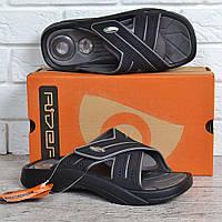 0a736669b Шлепанцы мужские Rider Cross comfort ad exp черные с серым на липучке,  Черный, 44